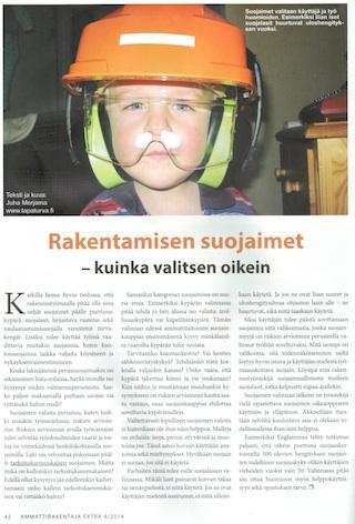 Rakentamisen suojaimet - Ammattirakentaja EXTRA 4/2014