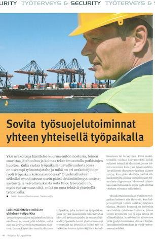 Työsuojelutoimet yhteisellä työpaikalla, Kuljetus & Logistiikka 5-2014