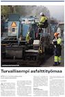 Turvallisempi asfalttityömaa. Rakentaja-lehti 5-2015