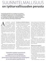 Suunnitelmallisuus on työturvallisuuden perusta, Ammattikeittiö 2-2014